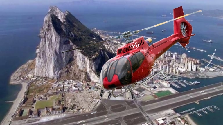 Helicopter trip in Gibraltar