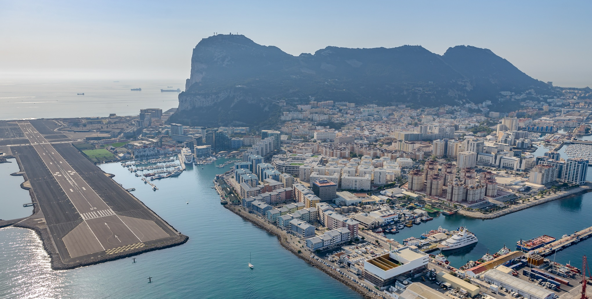 Helicopter-photo-of-Gibraltar-gibheli.com-reclaimed-land