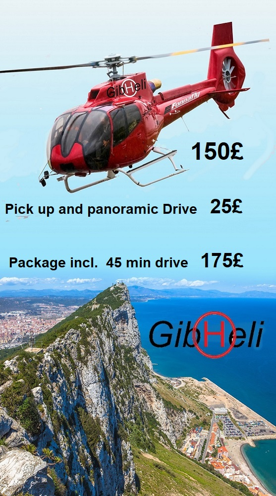 Gibraltar Shore excursion helicopter flights