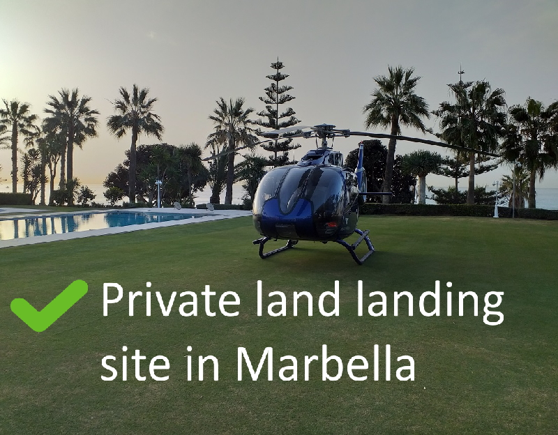Marbella Helicopter landing site legal
